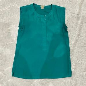J.Crew sleeveless work blouse in teal size 00